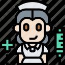 nurse, medical, therapist, syringe, healthcare icon