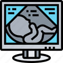 ultrasound, monitor, pregnancy, baby, checkup icon