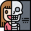 xray, skeleton, body, health, checkup icon