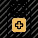 first, aid, kit, medication, box icon