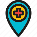 dental, health, healthcare, hospital, location, medical, medicine icon