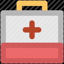 doctor box, first aid, first aid box, first aid kit, medical aid, medical box, medicine box icon