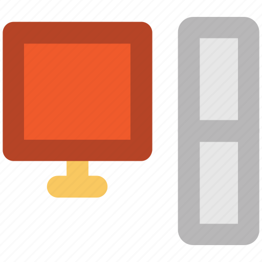 computer monitor, desktop, display, flat screen, monitor, pc, screen icon