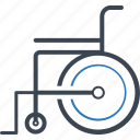 chair, patient, physical, wheel, wheelchair icon