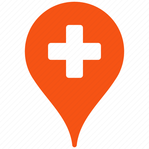 clinic, drug shop, drugstore, location, map pointer, medical, point icon