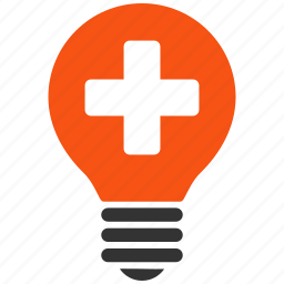electric power, electricity, energy, health care, light bulb, medical science, tip of the day icon