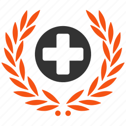 award, awards, health care, healthcare, hospital, laureal, medical embleme icon