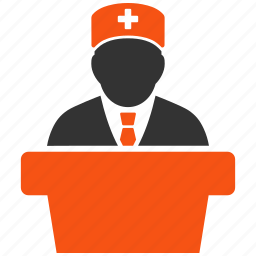 boss, chief, doctor, health care, healthcare, lecture, official icon
