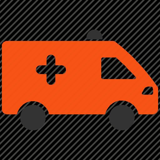 ambulance, automobile, emergency transport, hospital car, medical van, transportation, vehicle icon