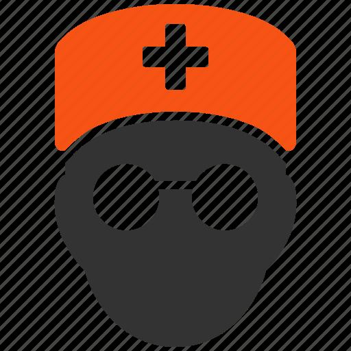 doctor, healthcare, medic head, medical, medicine, person, user icon