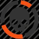 death, skull, graph, chart, dead, diagram, infographic icon