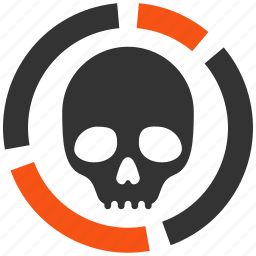 chart, dead, death, diagram, graph, infographic, skull icon