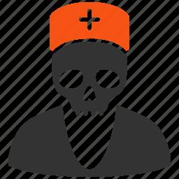 dead doctor, death, health, healthcare, medical, medicine, skull icon