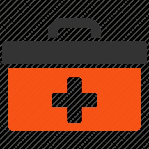 emergency, first aid, health, help, medical, medicine, toolbox icon