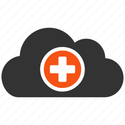 cloud, health care, internet, medical symbol, network, weather, web icon