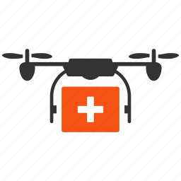 aircraft, ambulance, drone, emergency, medical, quadcopter, shipment icon