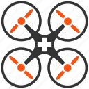 aircraft, emergency, flying copter, medical drone, medicine, nanocopter, quadcopter icon