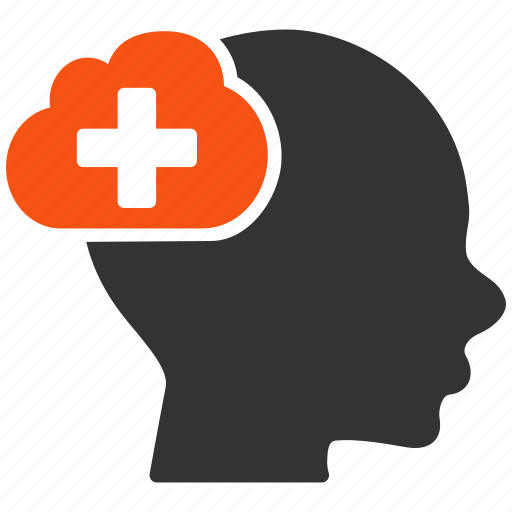 cloud, creativity, head, idea, innovation, medical, person icon