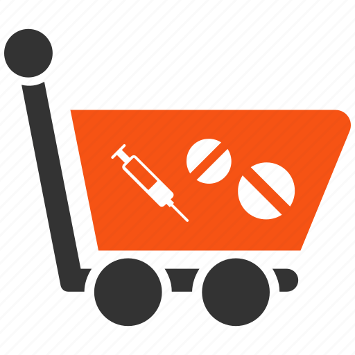 drug store, healthcare, medical, medication, medicine, pharmacy, shopping cart icon