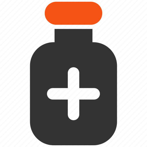 bottle, container, drug, medical, medicament, medication, vial icon