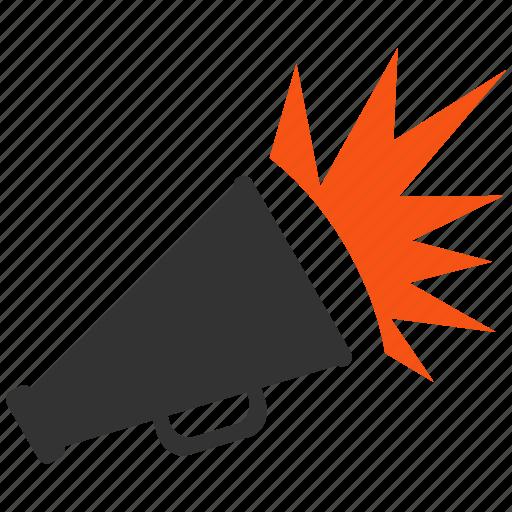 alarm, announce, announcement, megaphone, message, signal, speaker icon