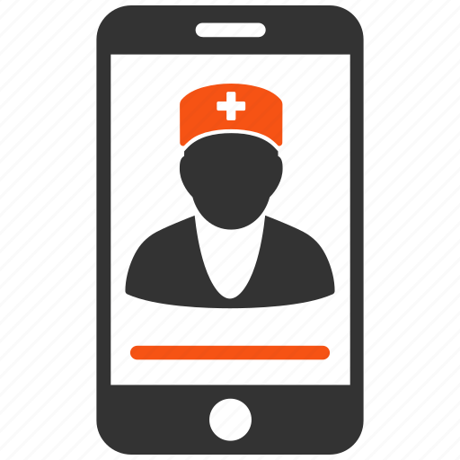 contact, doctor, medical, mobile medic, phone, screen, smartphone icon