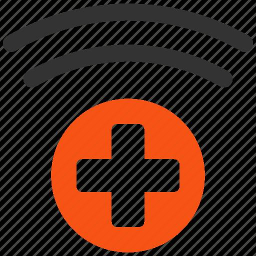 health care, healthcare, medical symbol, medicine, news, radio, source icon