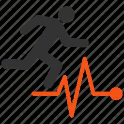 health, medical, medicine, patient, pulse, run, sport icon