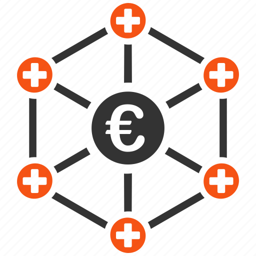 connections, doctor links, euro, hospital, medical network, structure, system icon