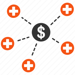 doctor, financial, health, links, medical network, medicine, structure icon