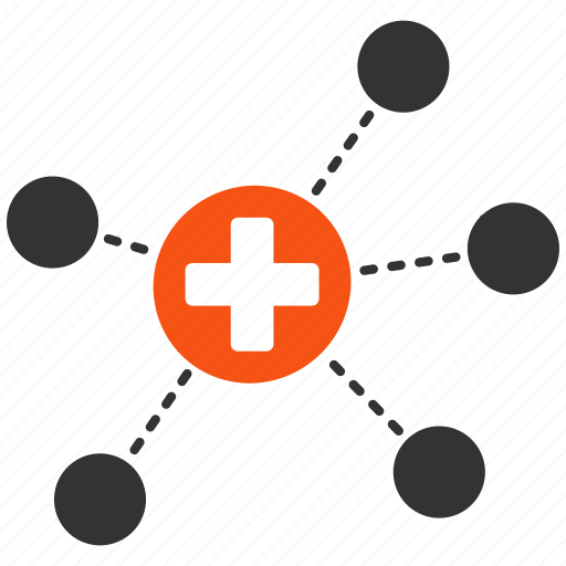 connection, health care, healthcare, medical links, medicine, network, relations icon