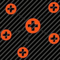 doctor network, health care, healthcare, hospital, internet, medical links, medicine icon