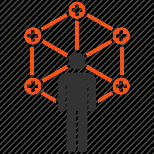 administrator, doctor network, health care, healthcare, internet, medical links, medicine icon