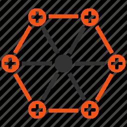 health care, healthcare, hospital, medicine, network, pharmacy, system icon