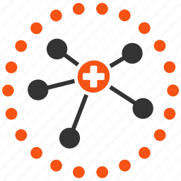 connections, doctor network, health care, healthcare, medical links, medicine, rounded icon