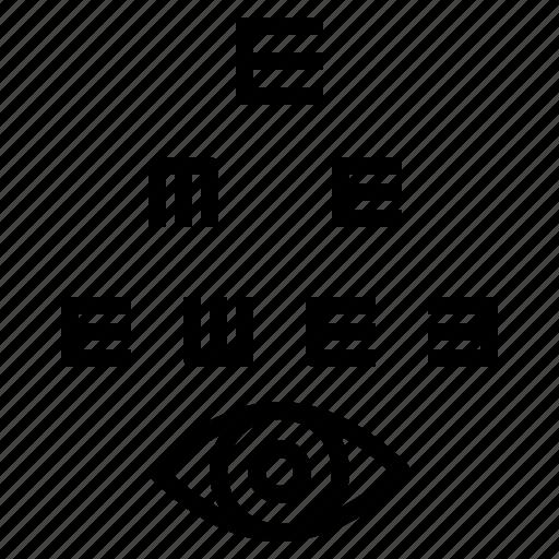 ophthalmology, optical icon