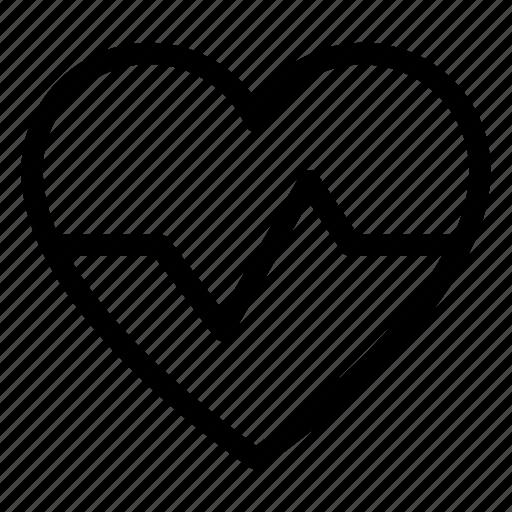 heart, heartbeat, hospital, medical, pulse icon