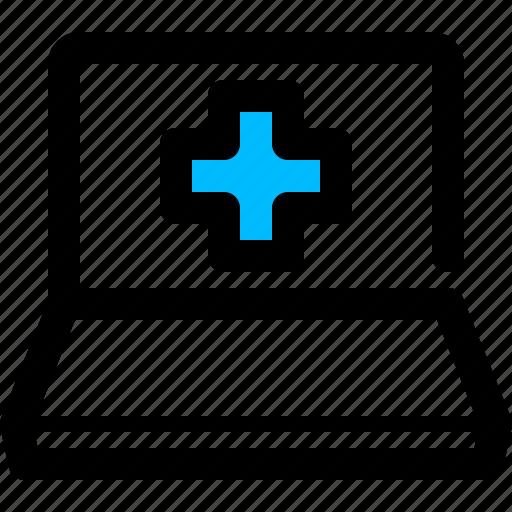 E health, medicine, online, website icon - Download on Iconfinder