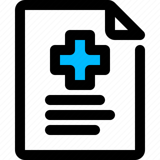 Document, medical report, prescription icon - Download on Iconfinder