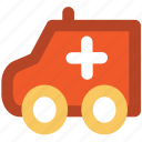 ambulance, emergency, paramedic van, rescue van, transport, vehicle icon