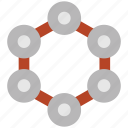atom, biology, compound, molecule, science icon