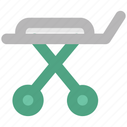 hospital, hospital furniture, patient bed, stretcher icon