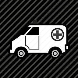 ambulance, emergency, health, hospital, paramedics, patient, treatment icon