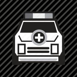 ambulance, health care, hospital, medical, paramedic, patient, transport icon