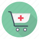 cart, healthcare, hospital, medical, trolley