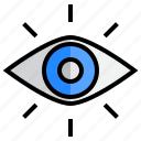 eye, look, see, view, vision