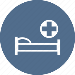 ambulance, bed, care, cross, hospital, medical, medicine icon