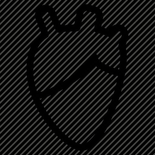 beat, health, heart, line-icon, medical, organ icon