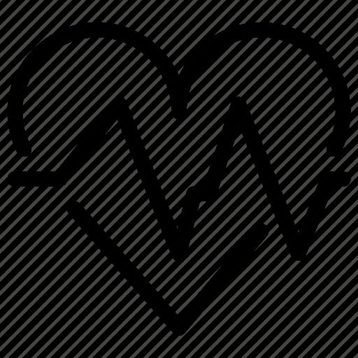 beat, heart, heartbeat, line-icon, medical, organ icon