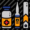 ampoule, ampula, ampule, medical icon